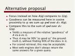 alternative proposal