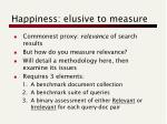 happiness elusive to measure