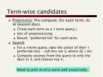 term wise candidates