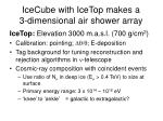 icecube with icetop makes a 3 dimensional air shower array