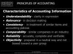 characteristics of accounting information