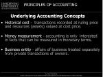 underlying accounting concepts