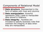 components of relational model