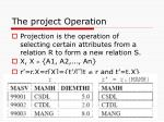 the p roject operation