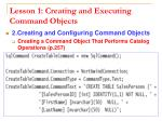 lesson 1 creating and executing command objects10