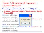 lesson 1 creating and executing command objects11