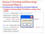 lesson 1 creating and executing command objects12