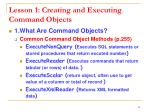 lesson 1 creating and executing command objects6