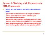 lesson 2 working with parameters in sql commands1