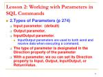 lesson 2 working with parameters in sql commands2