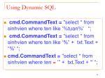using dynamic sql