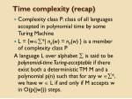 time complexity recap