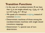 transition functions