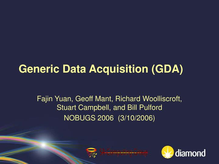 generic data acquisition gda n.