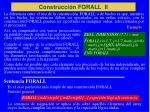 construcci n forall ii