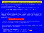 inicializaci n de arrays en sentencias de declaraci n i
