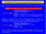 inicializaci n de arrays en sentencias de lectura ii