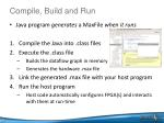 compile build and run