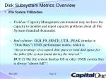 disk subsystem metrics overview