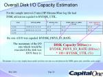 overall disk i o capacity estimation1