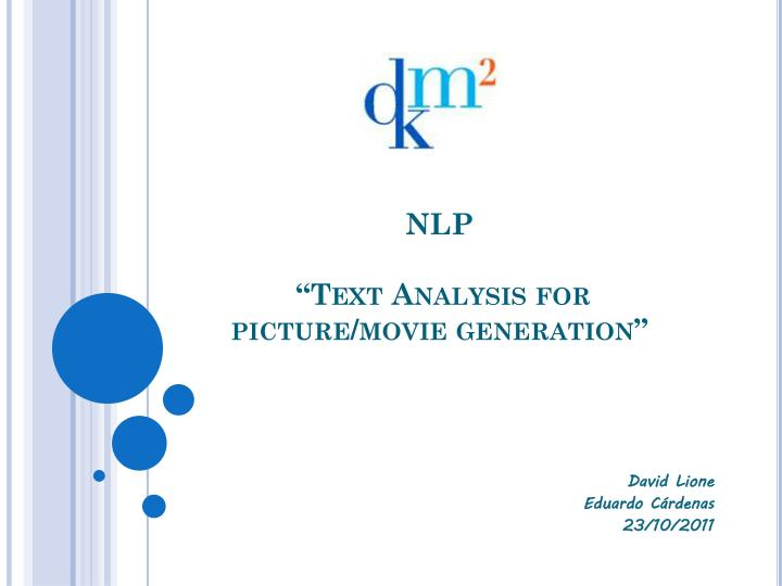 nlp text analysis for picture movie generation n.