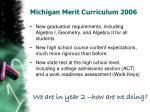 michigan merit curriculum 2006