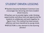 student driven lessons