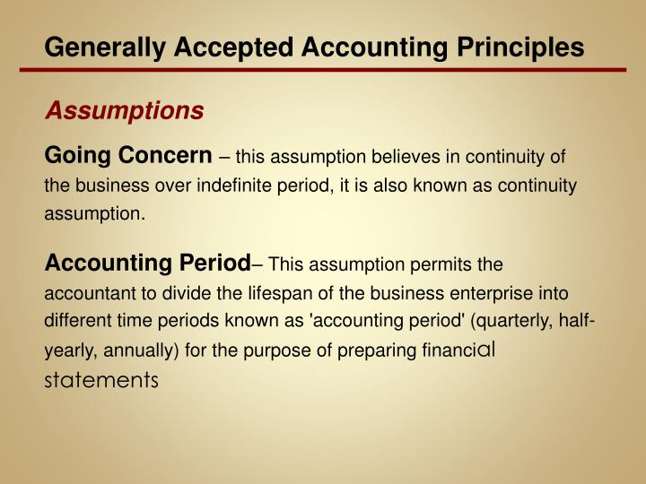 Generally Accepted Accounting Principles