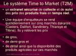 le syst me time to market t2m
