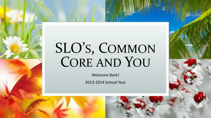 slo s common core and you n.