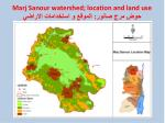 marj sanour watershed location and land use