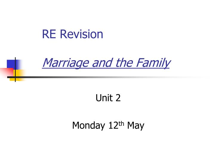 re revision marriage and the family n.