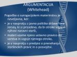 argumentacija whitehead