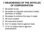 7 weaknesses of the articles of confederation