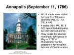 annapolis september 11 1786