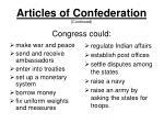 articles of confederation continued