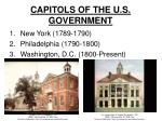 capitols of the u s government