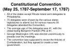 constitutional convention may 25 1787 september 17 1787