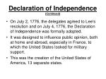 declaration of independence continued