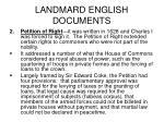 landmard english documents