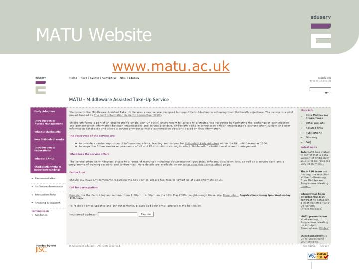 MATU Website