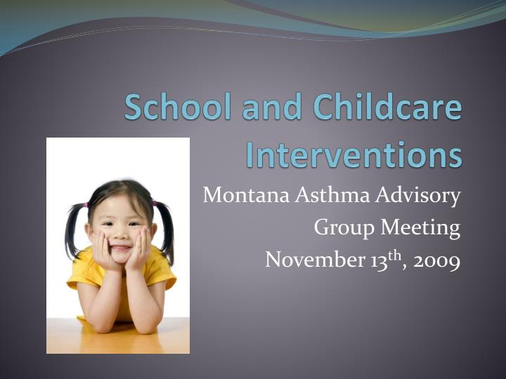 school and childcare interventions n.
