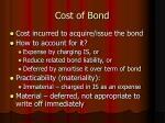 cost of bond