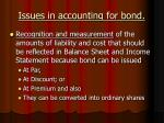issues in accounting for bond