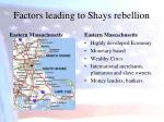 factors leading to shays rebellion