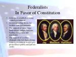 federalists in favor of constitution