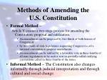 methods of amending the u s constitution