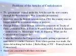 problems of the articles of confederation