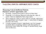 valuing inputs opportunity costs13