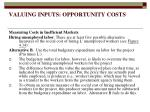 valuing inputs opportunity costs16